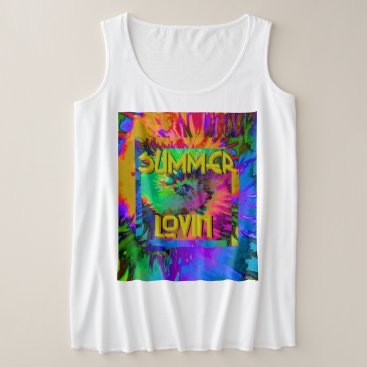 Beach Themed Summer Lovin' -  Women's  Plus Tank top