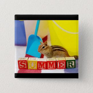 Summer Loving Chipmunk Button