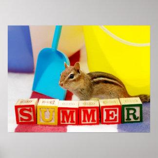 Summer Loving Chipmunk Poster