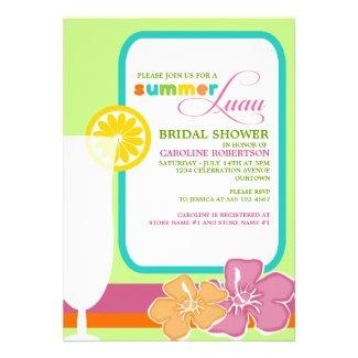 Summer Luau Bridal Shower Invitations