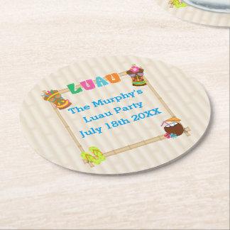 Summer Luau Drink Coasters