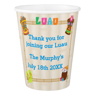 Summer Luau Paper Cups