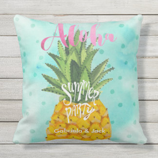 Summer Luau Party Pineapple Outdoor | Pillow