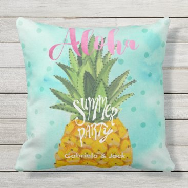Beach Themed Summer Luau Party Pineapple Outdoor | Pillow