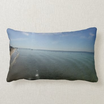 Beach Themed summer lumbar pillow