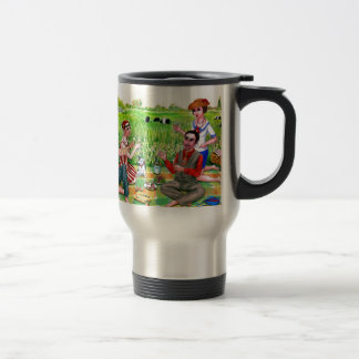 Summer  Luncheon in the 1920s Jamestown, RI 15 Oz Stainless Steel Travel Mug
