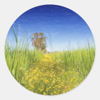 Summer Meadow Classic Round Sticker