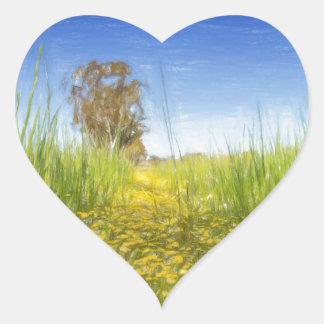Summer Meadow Heart Sticker