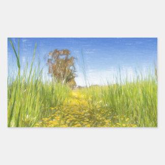 Summer Meadow Rectangular Sticker