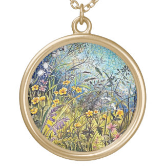 Summer Meadow Round Pendant Necklace