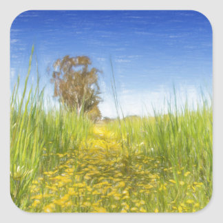 Summer Meadow Square Sticker