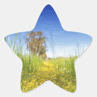 Summer Meadow Star Sticker
