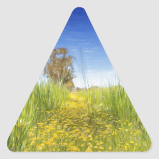 Summer Meadow Triangle Sticker