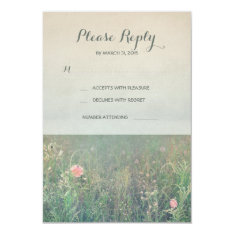 Summer Meadow Wedding Rsvp Cards at Zazzle