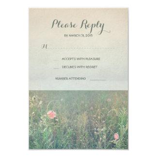 Summer meadow wedding RSVP cards