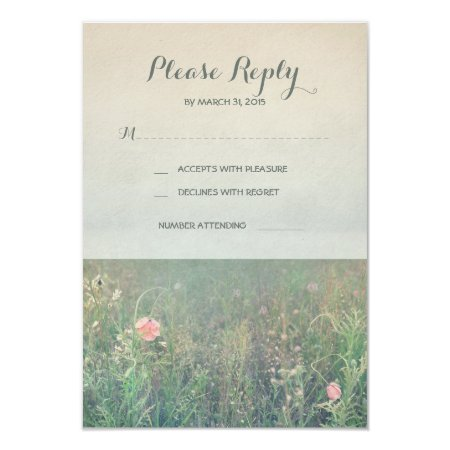 Summer Meadow Wedding Rsvp Cards