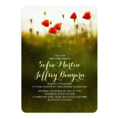 Summer meadow wildflowers wedding invites at Zazzle