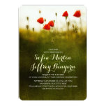 Summer meadow wildflowers wedding invites personalized announcements