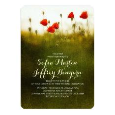 "Summer meadow wildflowers wedding invites 5"" x 7"" invitation card at Zazzle"