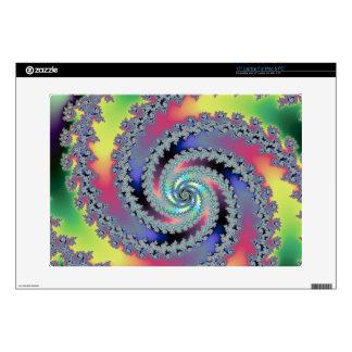 Summer Medley Fractal Swirl Laptop Decal