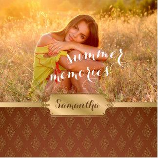 Summer Memories Custom Photo and Calligraphy Statuette