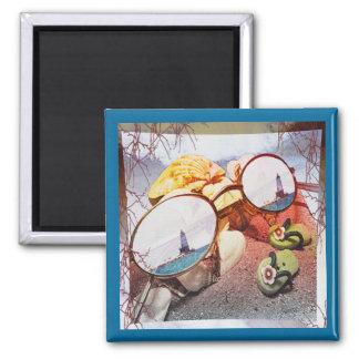 Summer Memories Fade 2 Inch Square Magnet