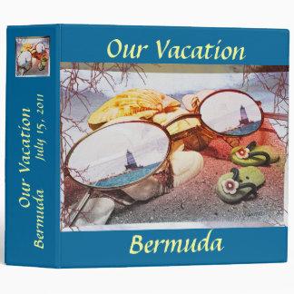 Summer Memories Fade Vinyl Binder