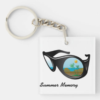 summer memory Double-Sided square acrylic keychain