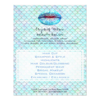 summer mermaid professional makeup artist flyer