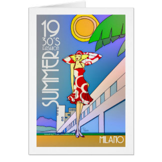 Summer Milano greeting card