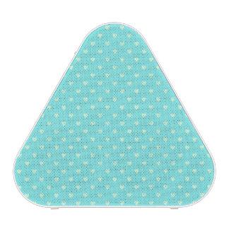 Summer Mint Green Polka Dot Hearts on Aqua Blue Bluetooth Speaker
