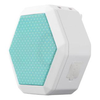 Summer Mint Green Polka Dot Hearts on Aqua Blue White Bluetooth Speaker