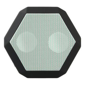 Summer Mint Pale Green Mint & White Stripe Black Bluetooth Speaker