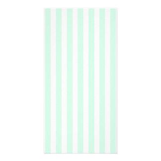 Summer Mint Pale Green Mint & White Stripe Card