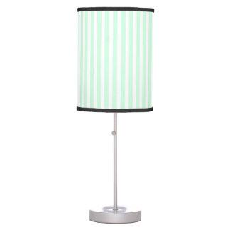 Summer Mint Pale Green Mint & White Stripe Desk Lamp