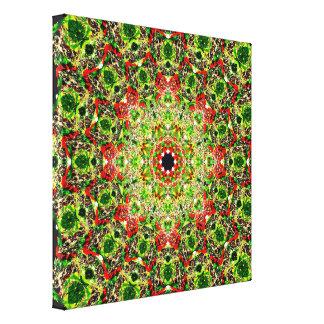 Summer Mix Mandala Canvas Print