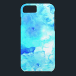 "Summer modern blue sea hand painted watercolor iPhone 8/7 case<br><div class=""desc"">A cool,  bright and modern summer hand painted dark and bright sea blue watercolor</div>"