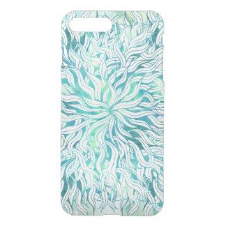 Summer modern blue turquoise watercolor seaweed iPhone 8 plus/7 plus case