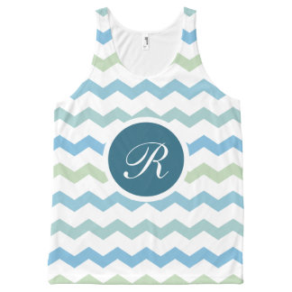 Summer Monogram Theme All-Over Print Tank Top