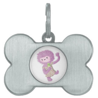 Summer Monster Lady Pet ID Tag