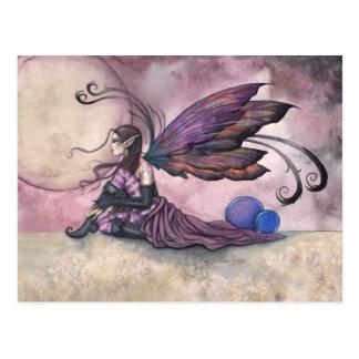 Summer Moon Fairy Postcard by Molly Harrison