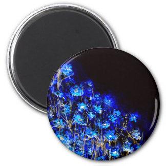 Summer Moon Glow Print 2 Inch Round Magnet