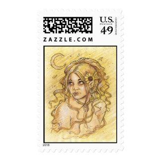 Summer Moon Postage Stamp
