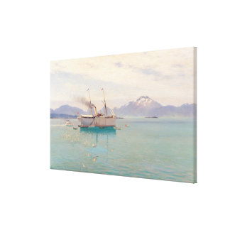 Summer Morning at Molde, 1892 Canvas Print
