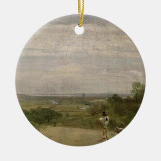 Summer Morning: Dedham from Langham Ceramic Ornament