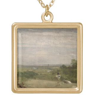 Summer Morning: Dedham from Langham Gold Plated Necklace