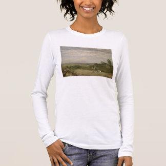 Summer Morning: Dedham from Langham Long Sleeve T-Shirt