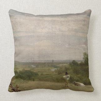 Summer Morning: Dedham from Langham Throw Pillow