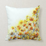 Summer Morning Floral Pillow