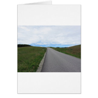 Summer mountain road in the Dolomites Card